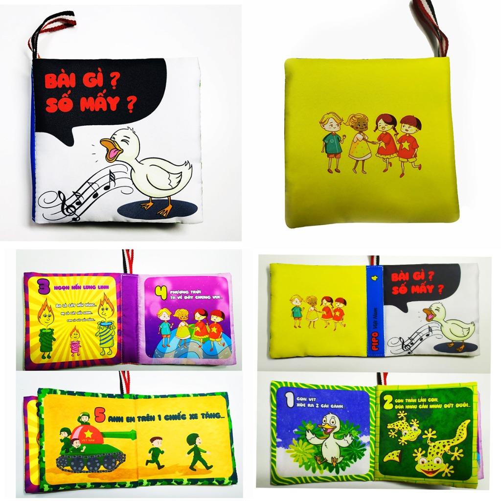Bộ 4 sách vải song ngữ ANH - VIỆT kích thích thị giác cho bé sơ sinh dưới 1 tuổi (PiPô Việt Nam)