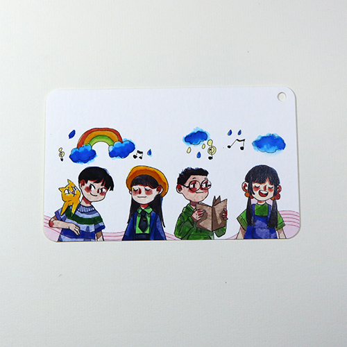 Giấy vẽ màu nước - 40 tờ giấy dày vẽ đẹp dạng postcard