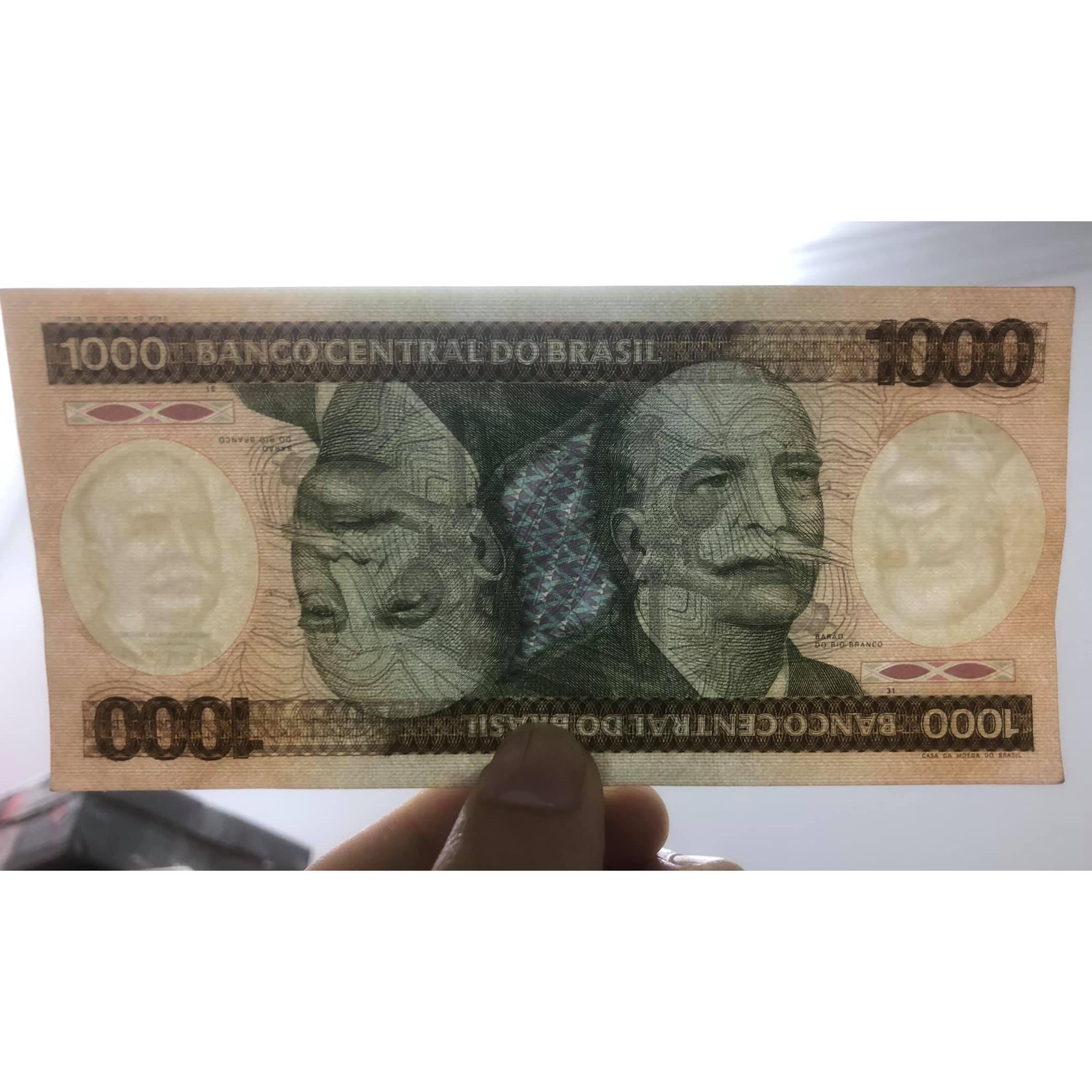 Tờ tiền cổ 1000 Cruzeiros của Brazil sưu tầm