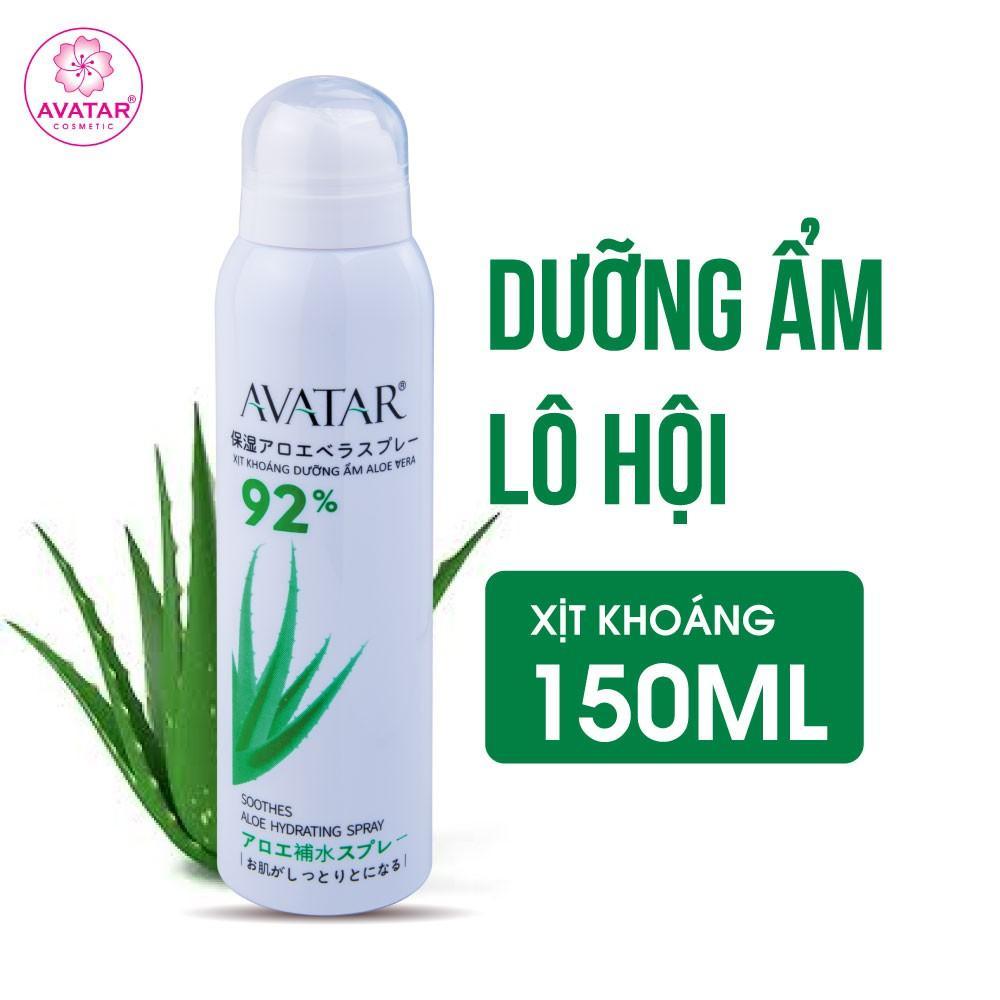 Xịt khoáng lô hội dưỡng da ẩm mượt mịn màng chính hãng AVATAR 150ml