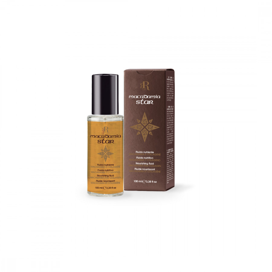 Tinh dầu phục hồi tóc hư tổn RRline Macadamia Star Fluid Collagen 100ml
