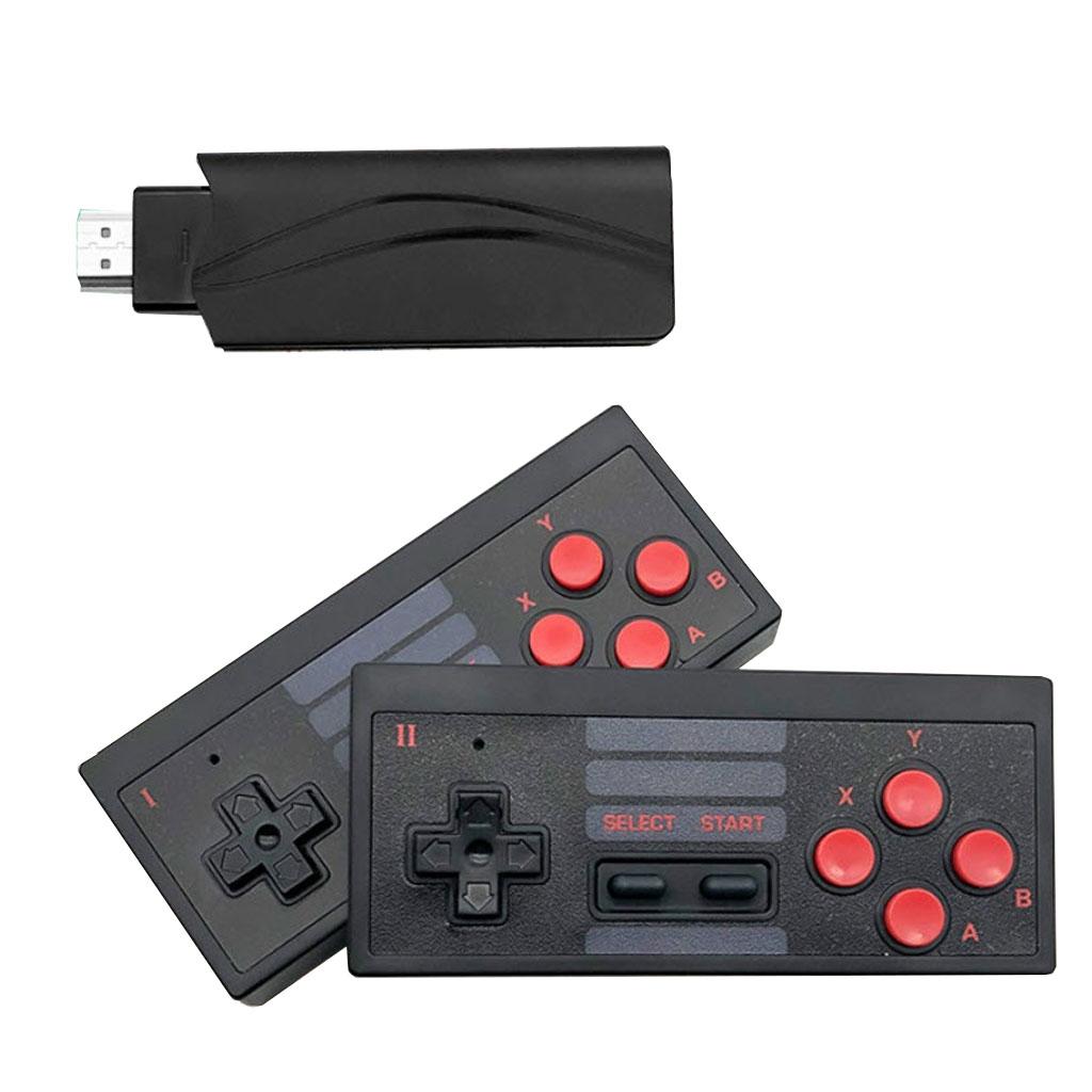 Máy chơi game điện tử cầm tay 4 nút bộ điều khiển trò chơi không dây mini 4k tích hợp 620 trò chơi 8 bit đầu ra HDMI - cài thêm trò chơi qua thẻ nhớ