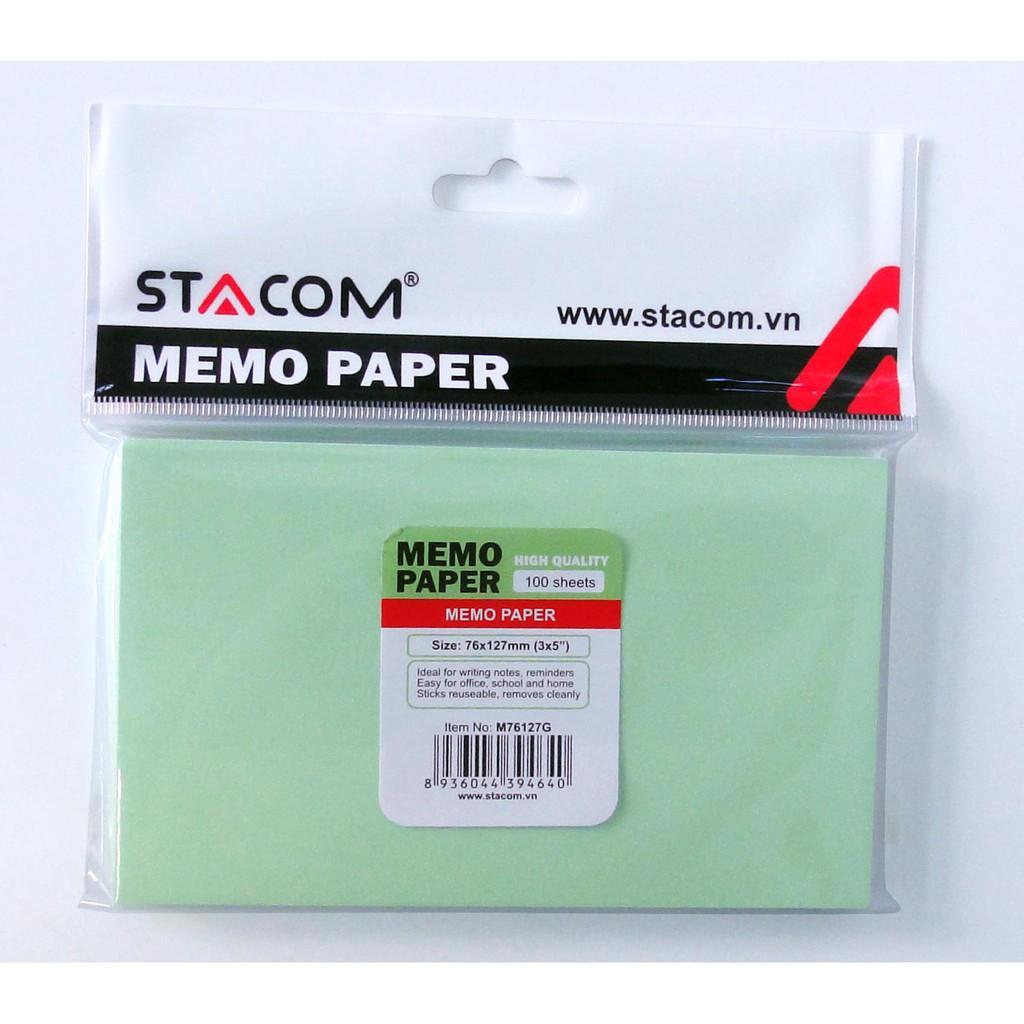 Giấy note nhiều màu STACOM - M76127G (XANH LÁ)
