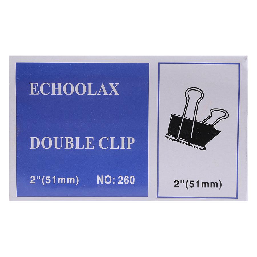 Bộ 2 Hộp Kẹp Bướm Echo (51mm) - Đen