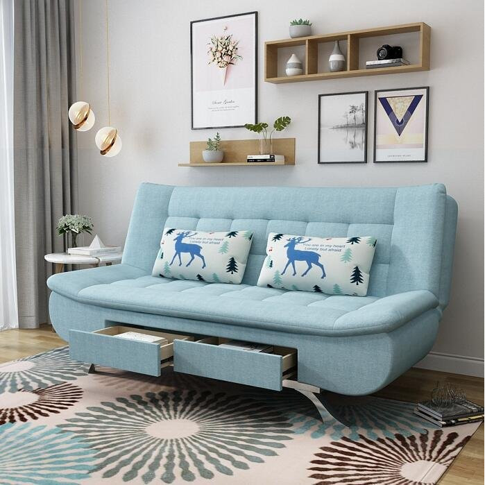 Sofa Giường Đa Năng, Sofa Bed Đa Năng Có 2 Hộc Tủ DP-SGB03