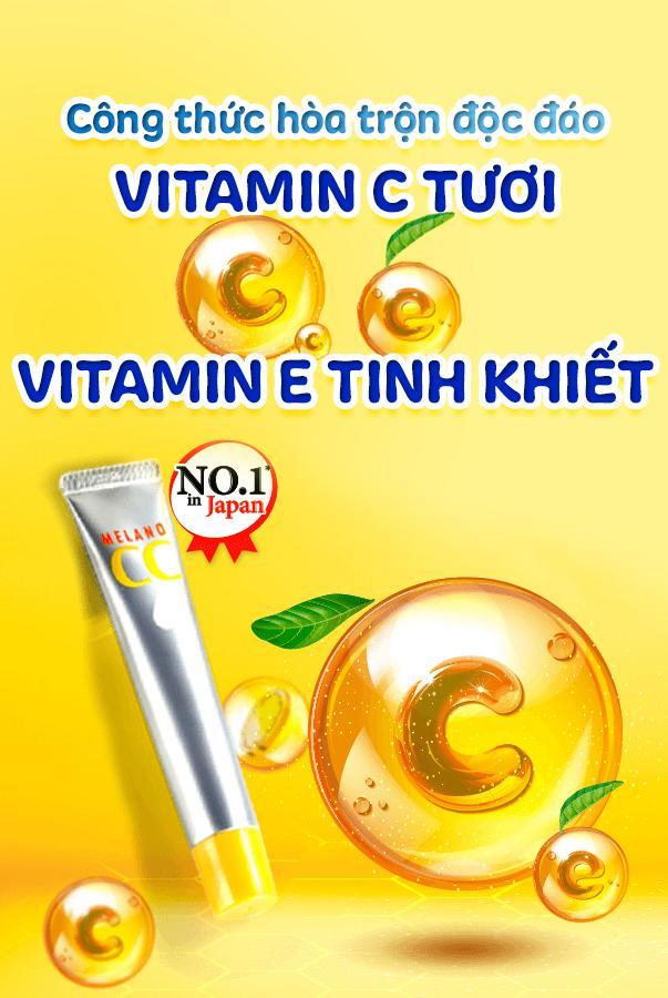 Tinh chất vitamin C tinh khiết dưỡng trắng và mờ thâm CC MELANO - 20ml