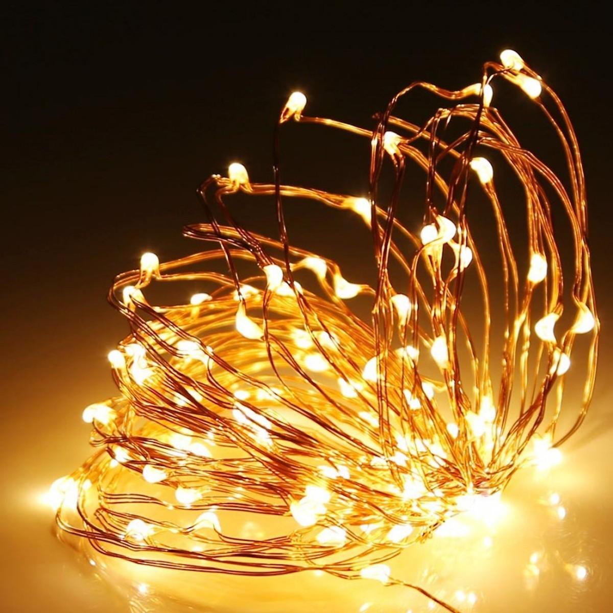 Dây Đèn Nháy LED Đom Đóm Trang Trí 2M/5M/10M Vàng Nắng/Nhiều Màu Cao Cấp - Nguồn điện Pin AAA - Dây Bóng Đèn Trang Trí Noel Lễ Tết Bền, Đẹp, Tinh Tế, Sang Trọng - Chính Hãng Vinbuy