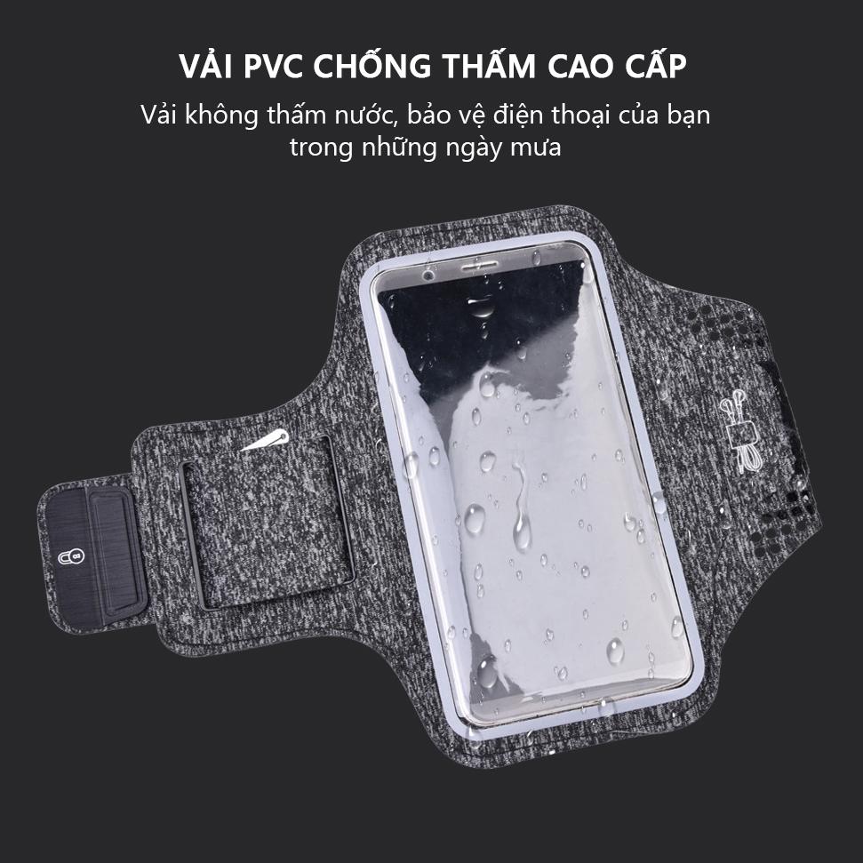 Bao, Túi đựng Điện Thoại tới 6.5 Inch Đeo tay chạy bộ ,Tập thể dục Rhino B101 Kháng nước, chống thấm, có thể cắm tai nghe phù hợp điện thoại Samsung, Iphone, Sony, Xiaomi,... - Hàng chính hãng