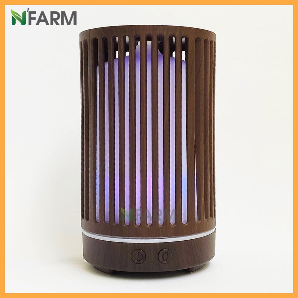 Máy khuếch tán/ máy xông tinh dầu hình Trụ Sọc N'Farm NF2063 + tinh dầu cam hương N'Farm (10ml)/ Phun sương sóng siêu âm.
