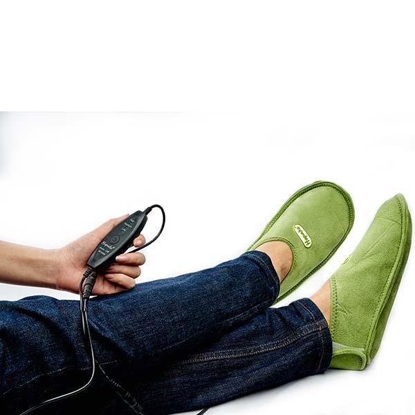 Đôi Giày Chườm Nóng Thảo Dược Giảm Đau Bàn Chân Dùng Điện Phiên Bản Vỏ Đai Bằng Vải Da Lộn - Hapaku