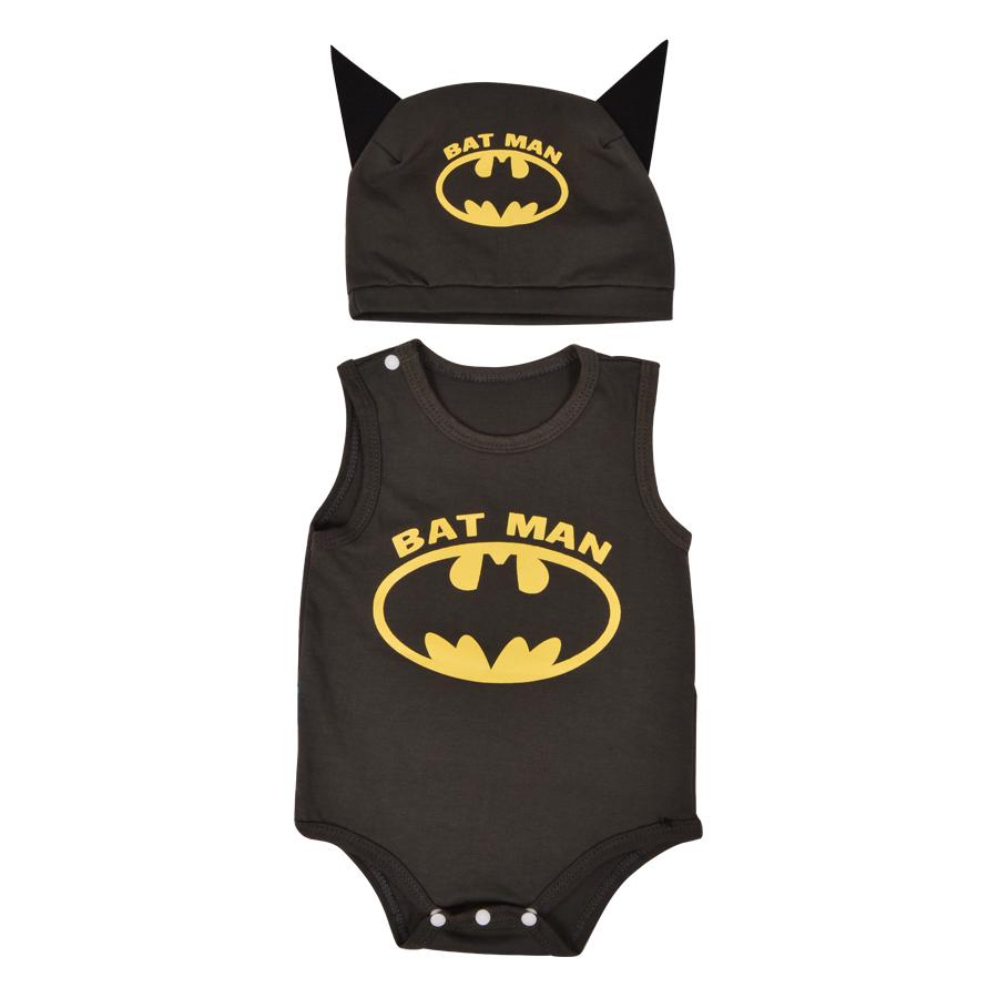 Bodysuit Batman Mihababy BDS07_BATMAN - Xám Đậm