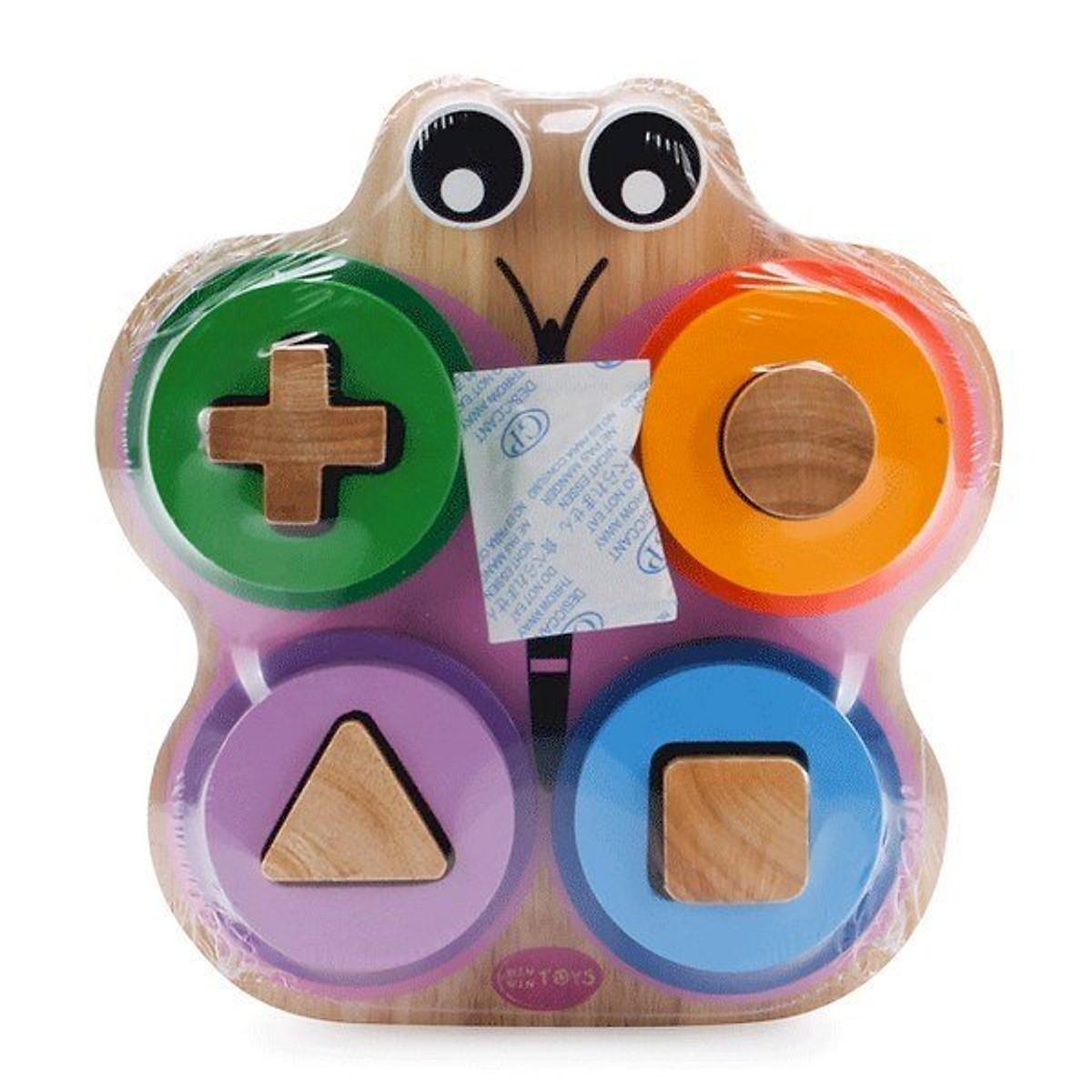Xếp Trụ Hình Con Bướm  - Đồ chơi gỗ