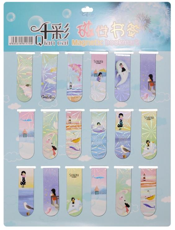 Combo 18 Bookmark Nam Châm Đánh Dấu Sách - Cá Voi (Mẫu Ngẫu Nhiên)