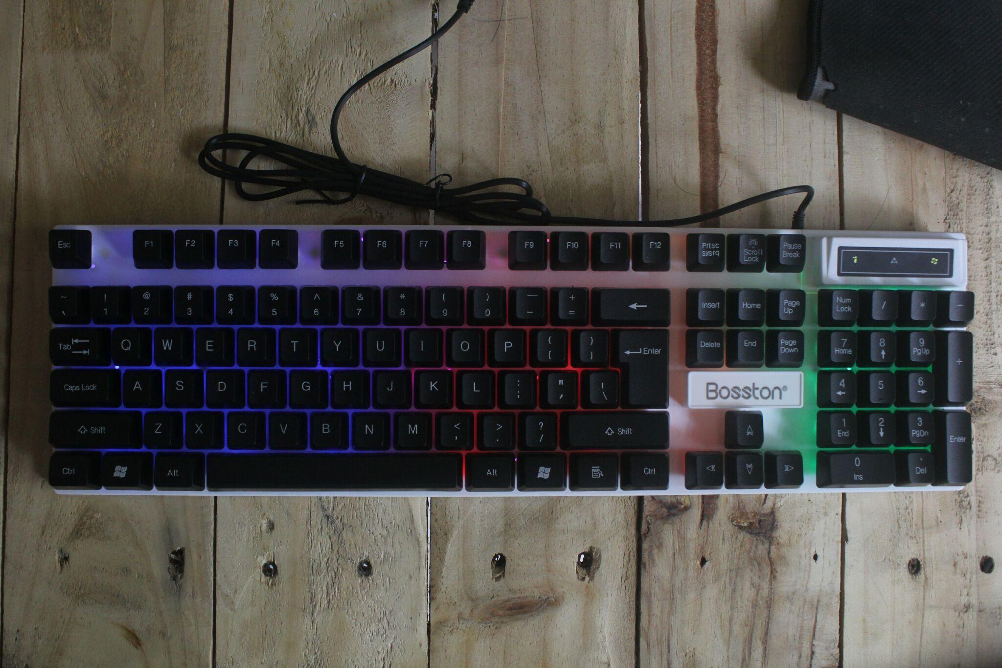 Bàn Phím Giả Cơ Keyboad Gaming Bosston 808 Led Nhiều Màu - Hàng Nhập Khẩu