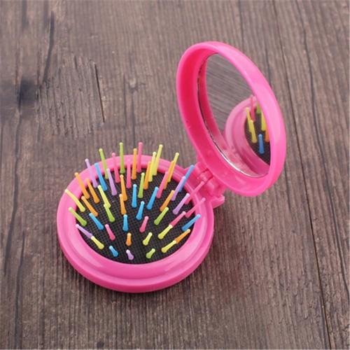 Bộ gương lược bỏ túi mini gấp gọn phù hợp với mọi loại tóc - màu ngẫu nhiên