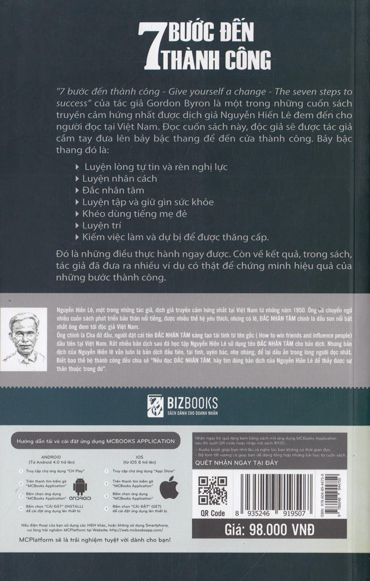 7 Bước Đến Thành Công (Quà Tặng Audio Book) (Tặng Thêm Bút Hoạt Hình Cực Xinh)