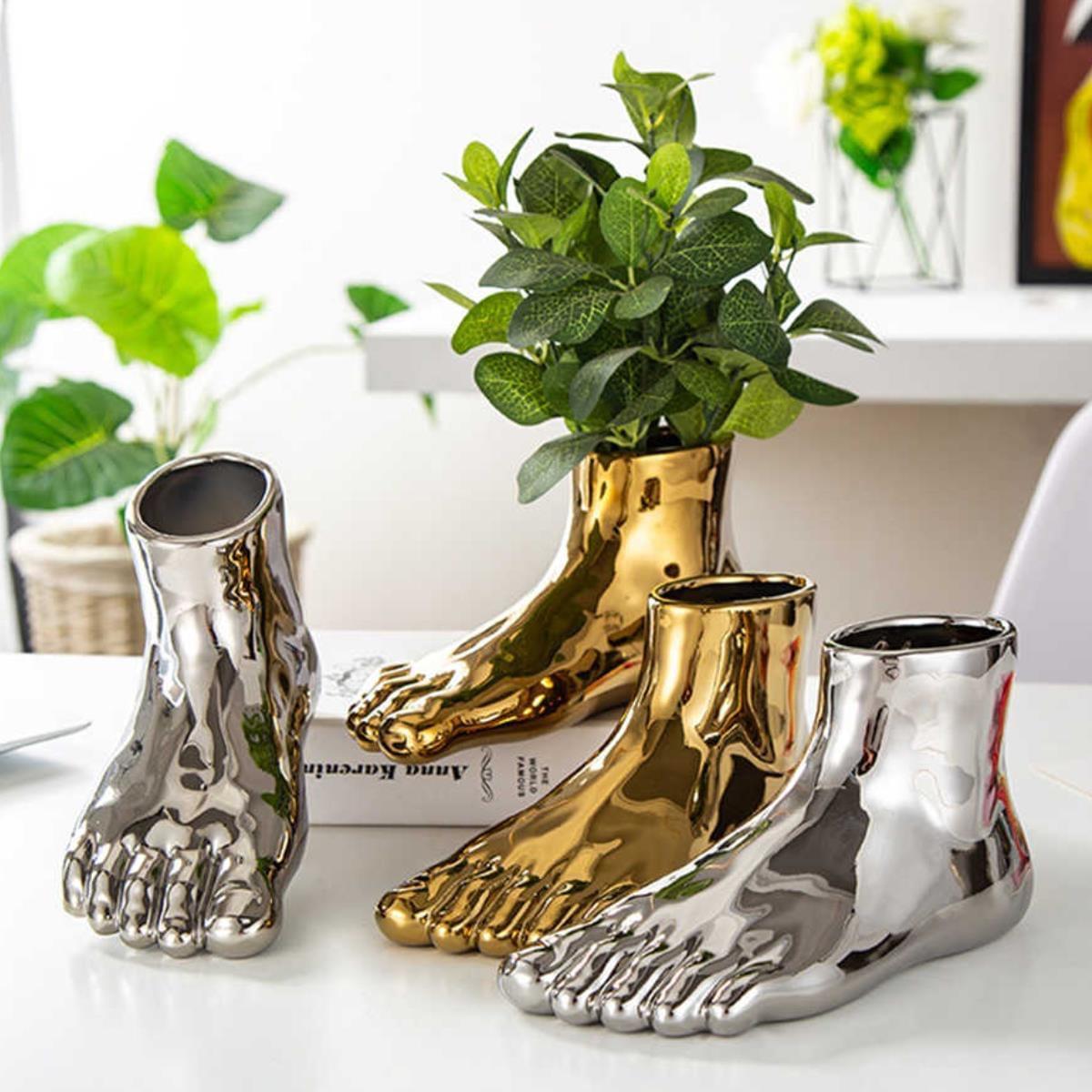 Bình hoa hình bàn chân decor sang trọng