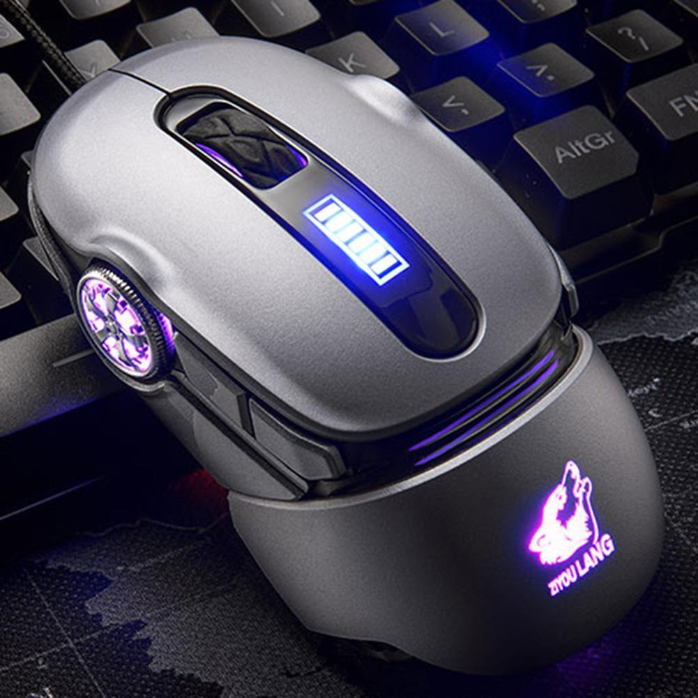Chuột chơi game có dây USB ZIYOULANG V11 hình xe đua có đèn lưng-hàng nhập khẩu (màu ngẫu nhiên)