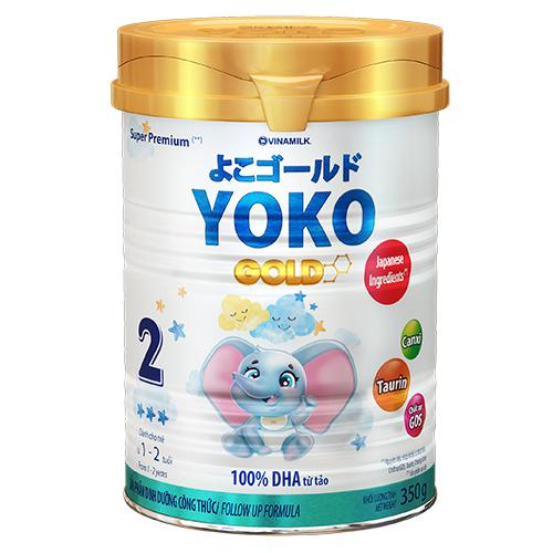 SỮA BỘT GOLD YOKO 2 VINAMILK 350G ̣̣DÀNH CHO BÉ TỪ 1-2 Tuổi
