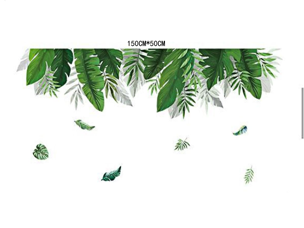 Tán lá nhiệt đới màu xanh đậm