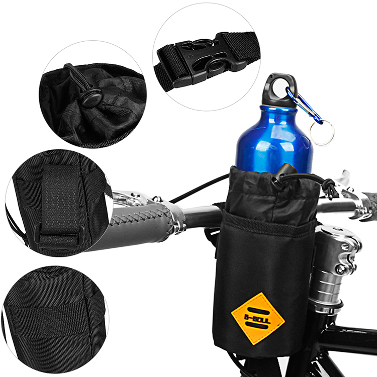 Water-resistant Bicycle Handlebar Water Bottle Holder Bag Storage Pouch for Cycling Camping Hiking Backpacking