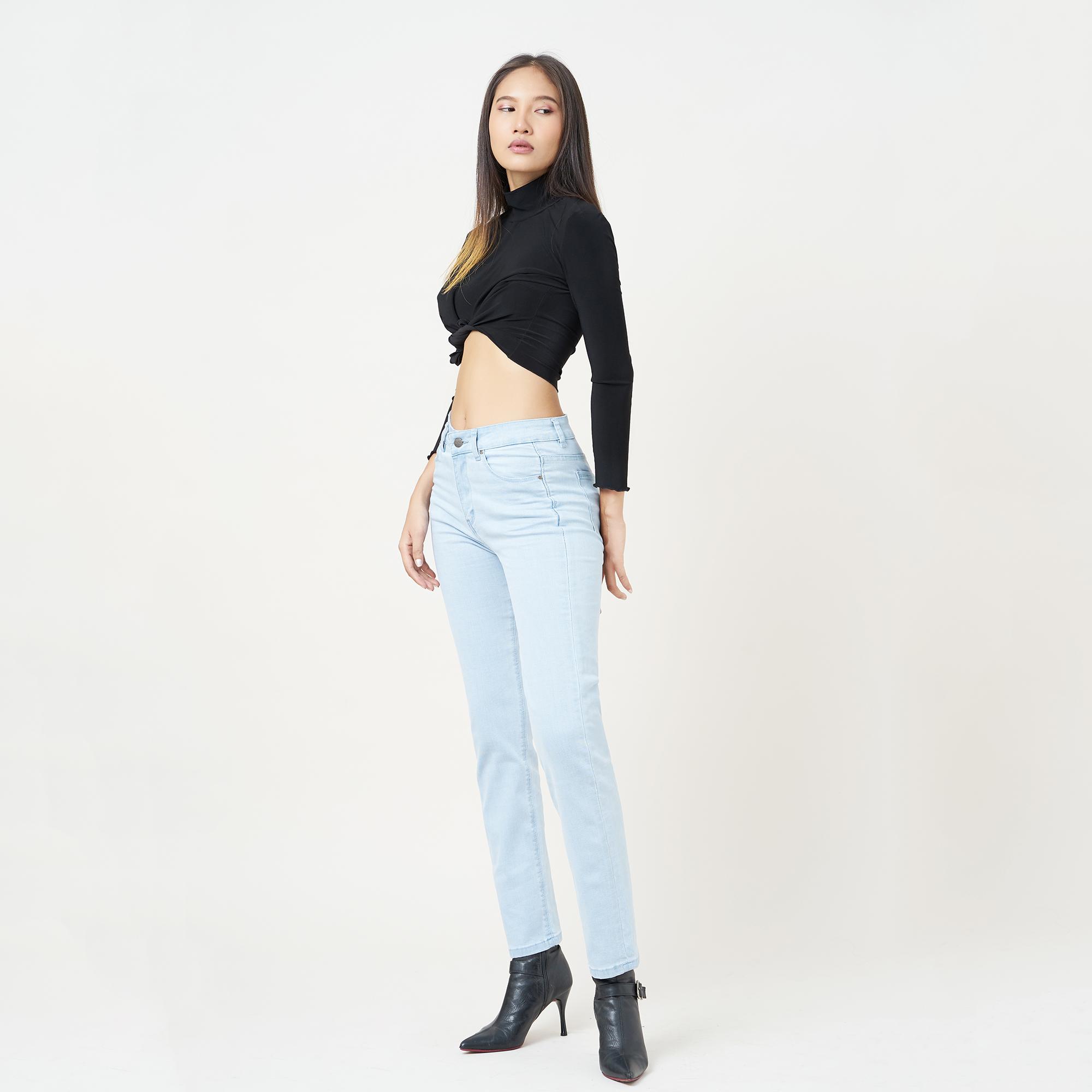 Quần Jean Nữ Ống Đứng Lưng Cao Aaa Jeans Có Nhiều Màu Size 26 - 32 8