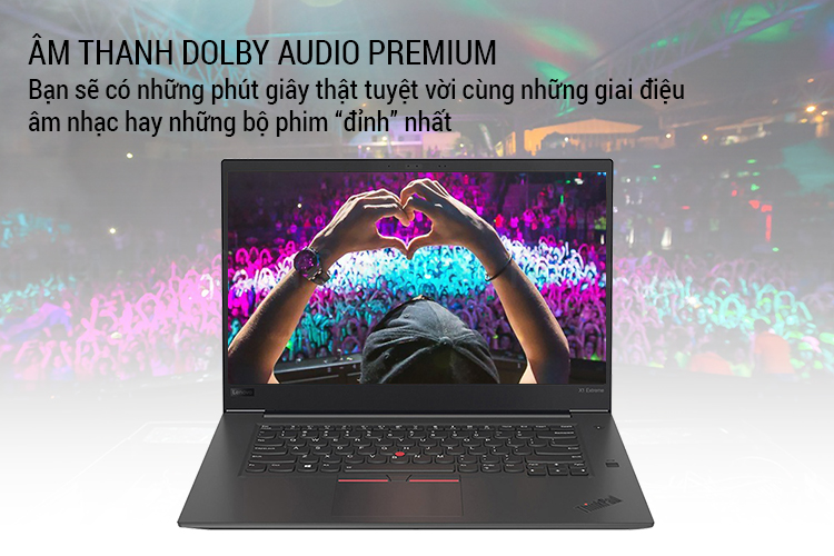 Laptop Lenovo ThinkPad X1 Extreme 20MG0016VN Core i7-8850H/ Win10 Pro (15.6 UHD IPS Touch) - Hàng Chính Hãng
