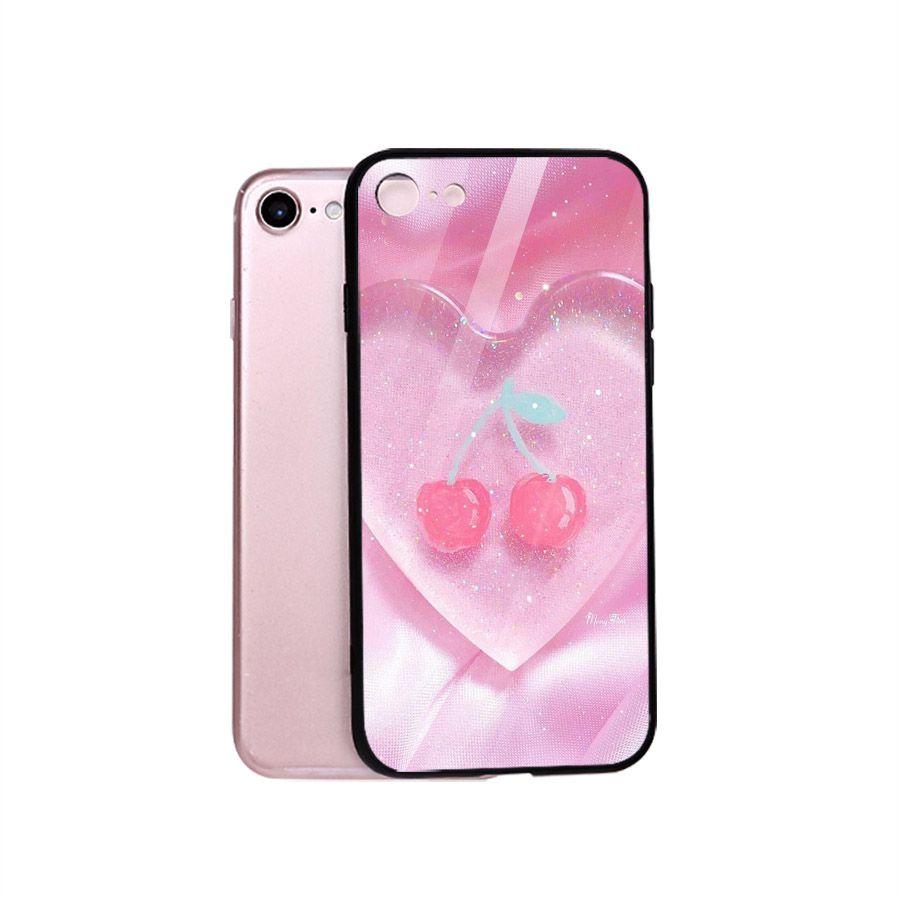 Ốp điện thoại kính cường lực cho máy iPhone 5/5s/se - trái tim tình yêu MS LOVE053