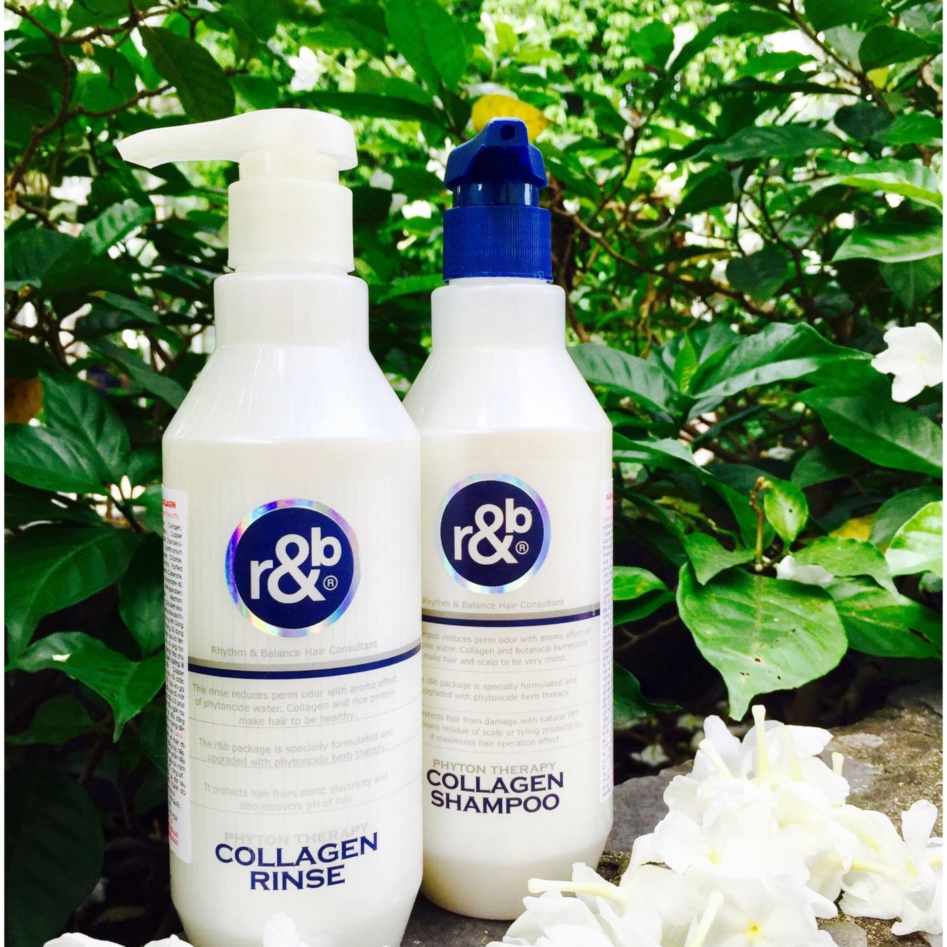 dầu xả tóc collagen sạch sâu, giảm mùi hôi hoá chất trên tóc, ngăn ngừa tóc bạc sớm & mềm mượt R&B Collagen Rinse, hàn quốc 1500ml