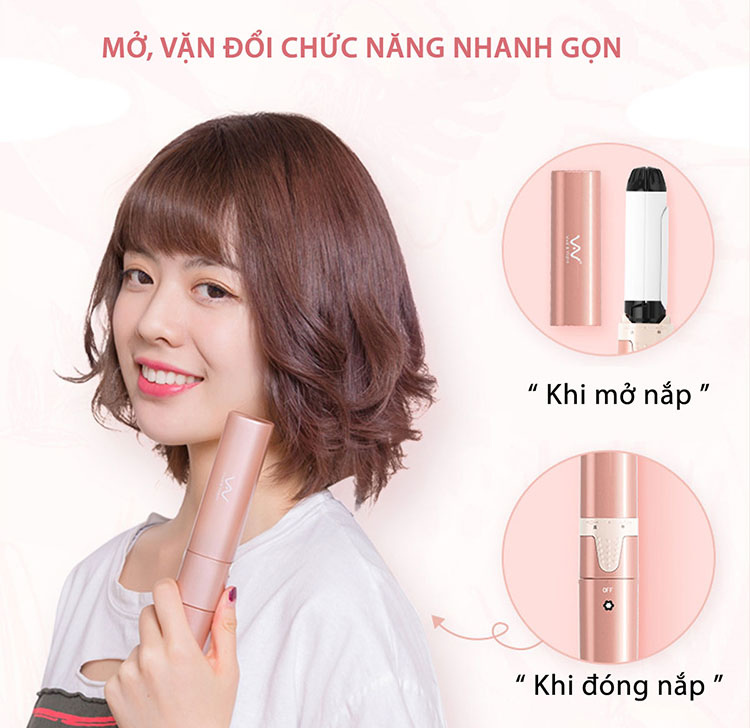 Máy Uốn Ép Tóc Mini 2in1 Vivid&Vogue VAV039