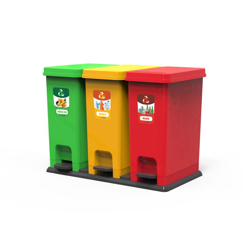 Thùng rác phân loại Nhựa Việt Tiến