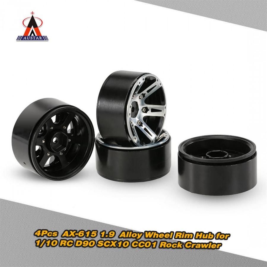 4 Sets Austar Day 1.9 Alloy Rim Hub Rc Car Accessories 1/10 Rc D90 Scx10 Cc01 Rock Crawler