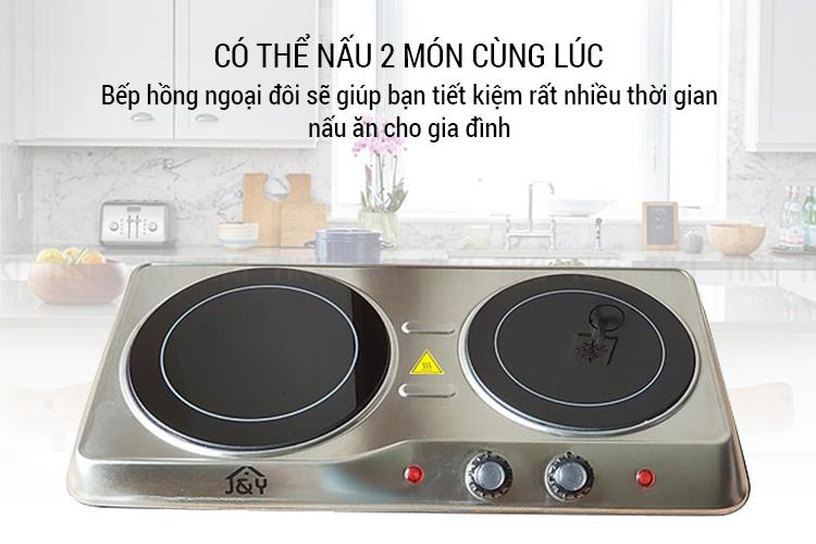 Bếp Hồng Ngoại Đôi Joyful Life JYEC-12801SS (2000W) - Hàng Chính Hãng