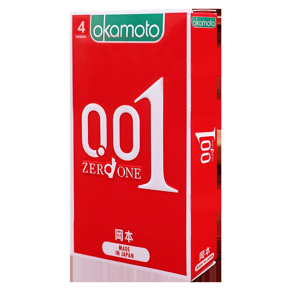 Bao Cao su Okamoto 0.01 Hydro Polyurethane Siêu Mỏng Hộp 4 Cái