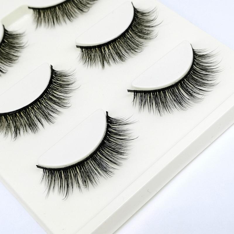 Lông mi giả lông chồn 3 Fashion Eyelashes 3 Faux-Cils 3D 1 bộ 3 cặp 55