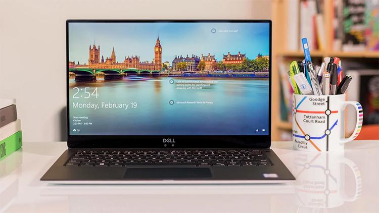 Laptop Dell XPS 13 9370 415PX1 Core i7-8550U/Win10 (13.3 inch) - Hàng Chính Hãng (Silver)