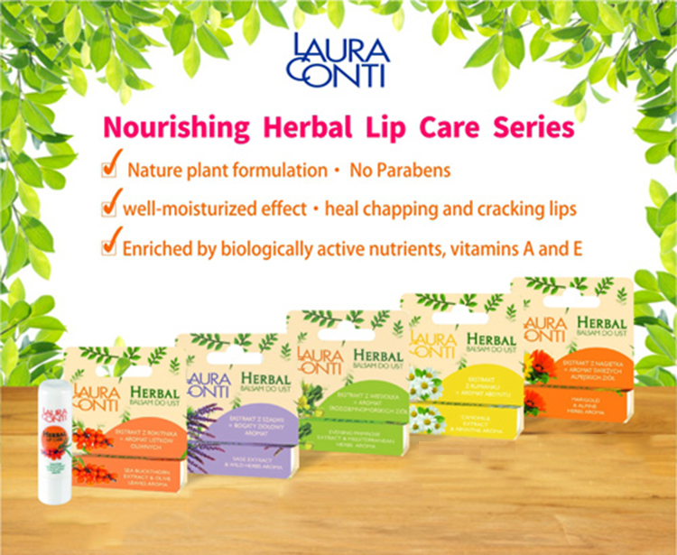Nourishing Herbal Lip Care with Evening Primorse Extract & Mediterranean Herbs Aroma