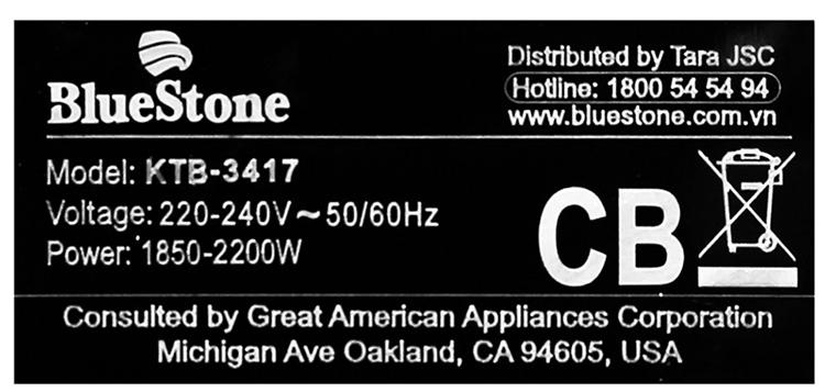 Ấm Siêu Tốc BlueStone KTB-3417 (1.7 Lít)
