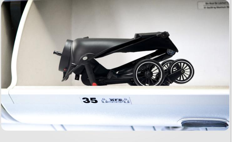 Xe đẩy dạo chơi gấp gọn xoay chiểu 360 độ cao cấp V5 3