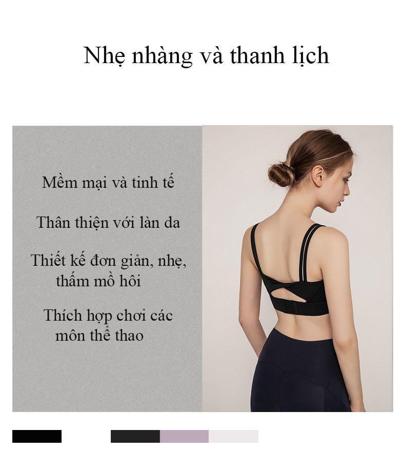Áo Bra thể thao nữ, áo tập Gym Yoga mềm mịn, có đệm, kiểu áo lót mỏng mã WX-042 6
