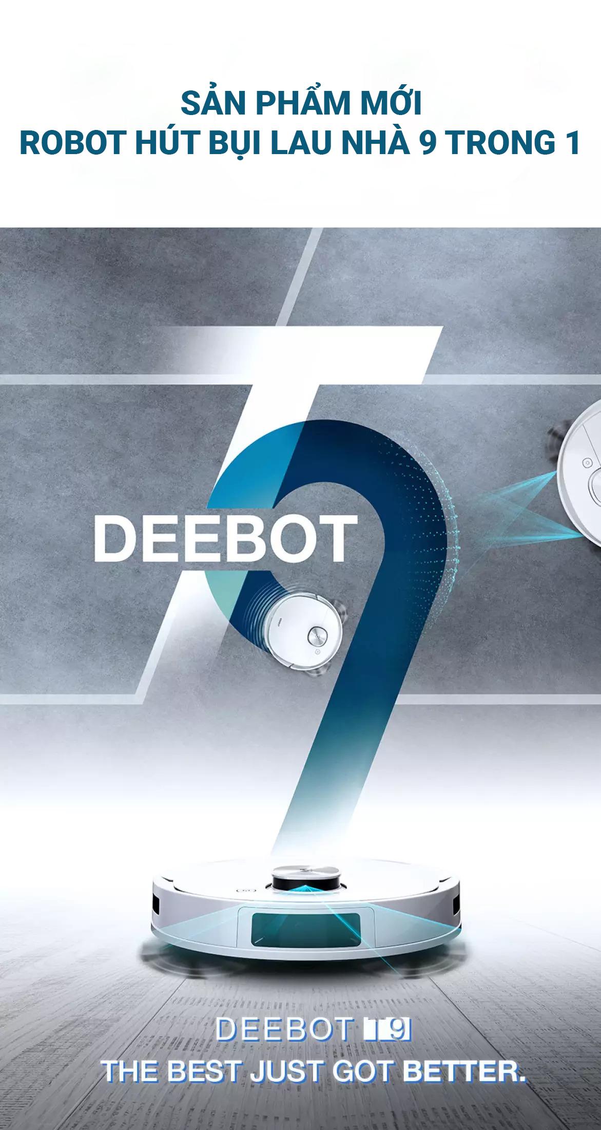 Robot Hút Bụi Lau Nhà Ecovacs Deebot T9 Plus – Lực Hút Max 3000Pa – Hàng  Chính Hãng-Bản Quốc Tế – BH 18 Tháng, Giá Giảm Tới 13 % - congnghehot.com