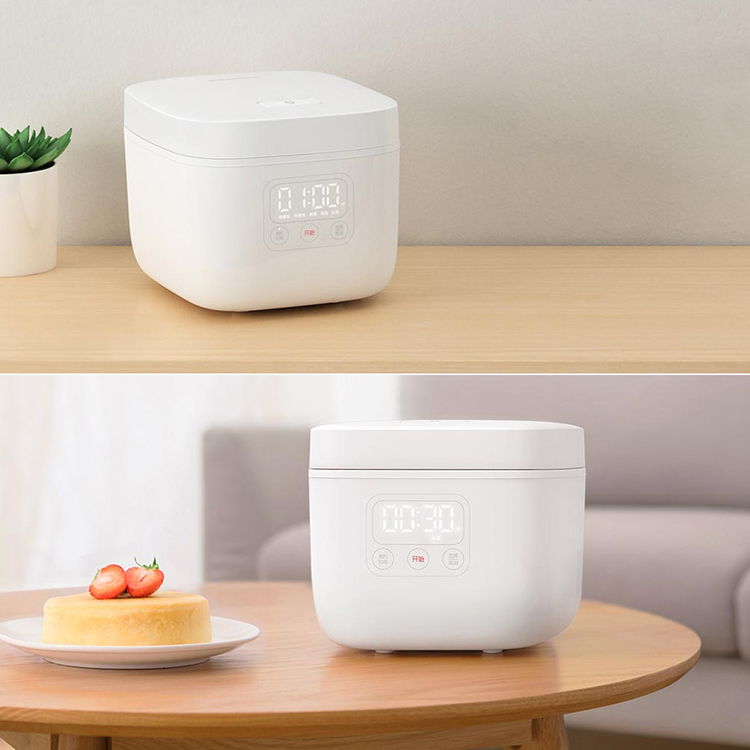 Xiaomi Mijia Electric Rice Cooker 1.6L Kitchen Mini Cooker Small Rice Cook Machine Intelligent Appointment LED Display - Cool white