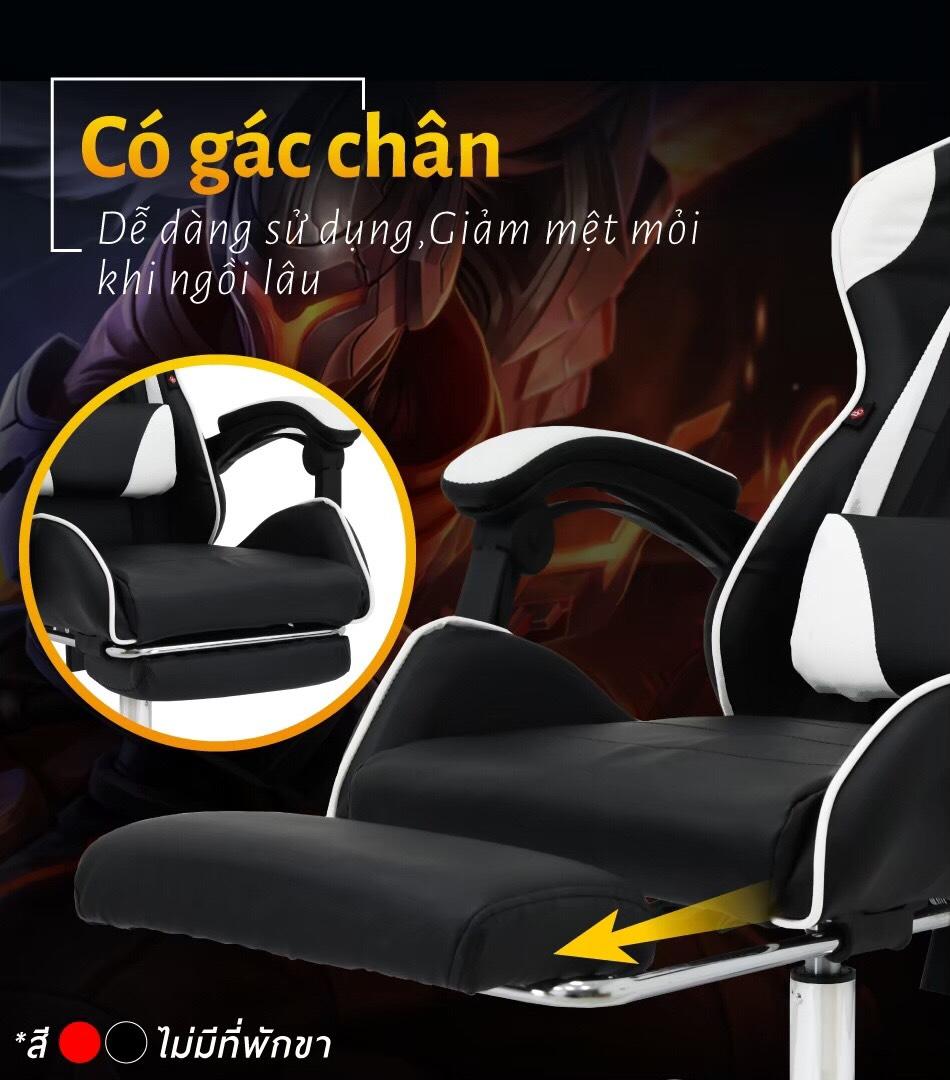 BG Ghế chơi game cao cấp dành cho các game thủ, chân xoay ngã 135 độ Mẫu E02N01 màu đỏ phối đen (Hàng nhập khẩu) 11