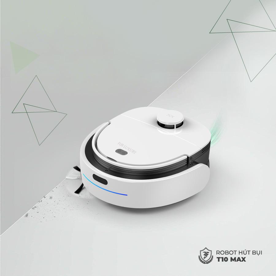 Chốt quét của robot hút bụi lau nhà T10 Max được trang bị động cơ kép cực mạnh để dàng loại bỏ bụi bẩn