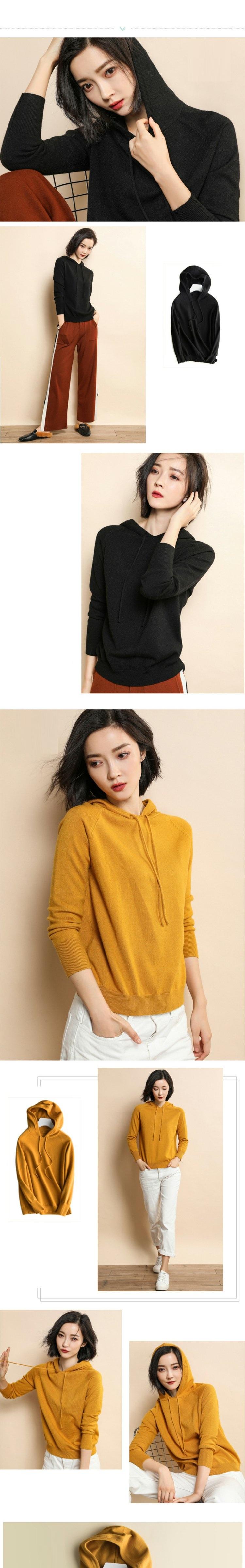 Áo hoodie len nữ LAHstore, chất len mêm mịn ấm áp, thời trang trẻ, phong cách Hàn Quốc 2