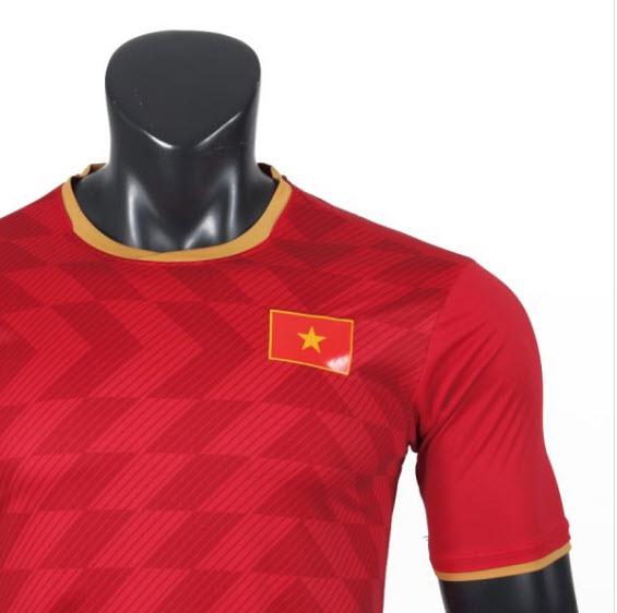 Quần Áo Đá Banh Nam Đội Tuyển Việt Nam Sea Game 30- chất vải Thun lạnh Polyester cao cấp , có lỗ thoáng khí , nhanh khô 3