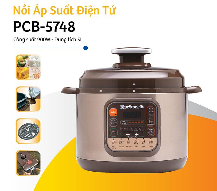 Nồi Áp Suất Điện Tử Bluestone PCB-5748 (5.0L) - Hàng Chính Hãng
