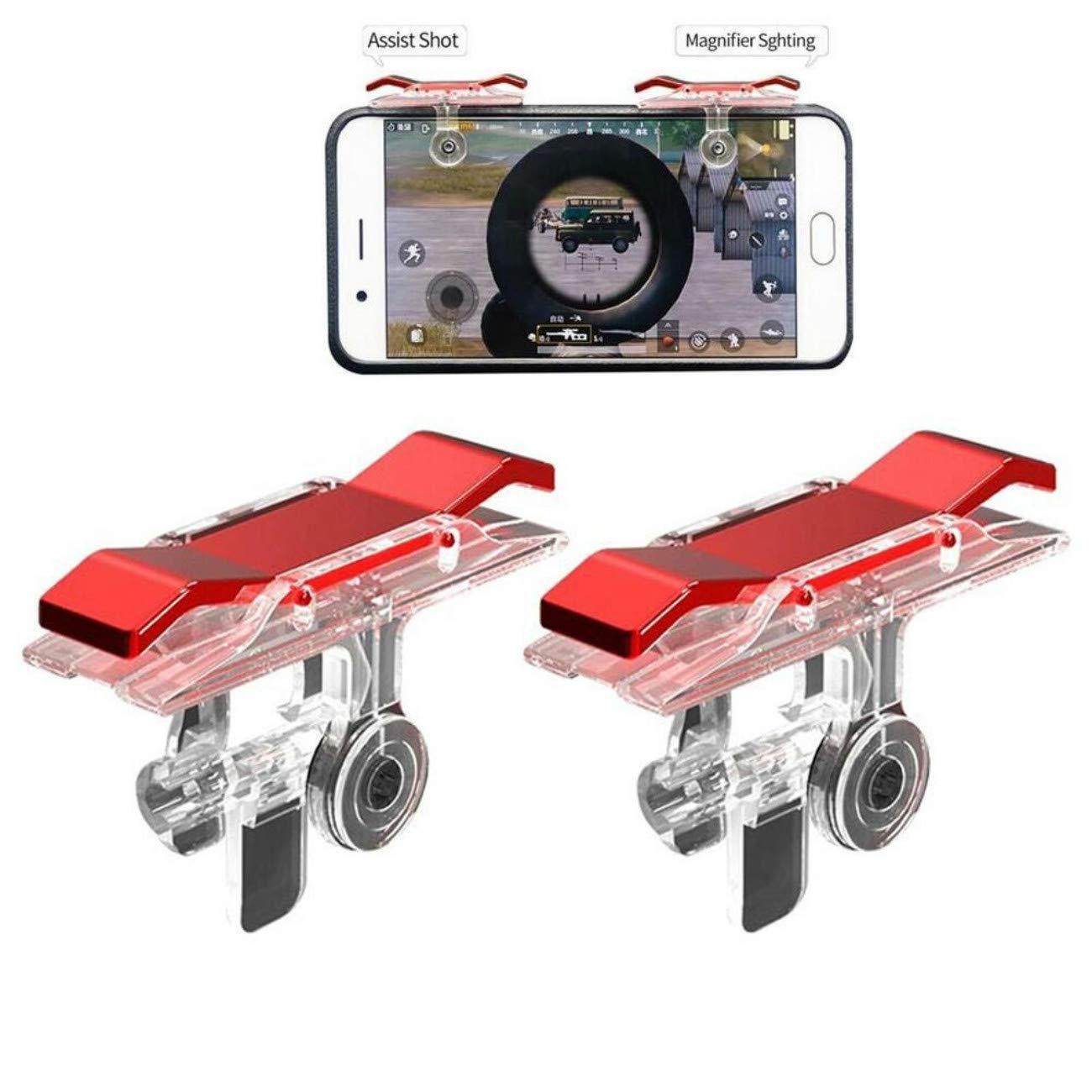 Bộ 2 Nút Chơi Game Pubg Mobile, Ros, Cf Dòng E9 Trong Suốt (Đỏ Hoặc Bạc) 4