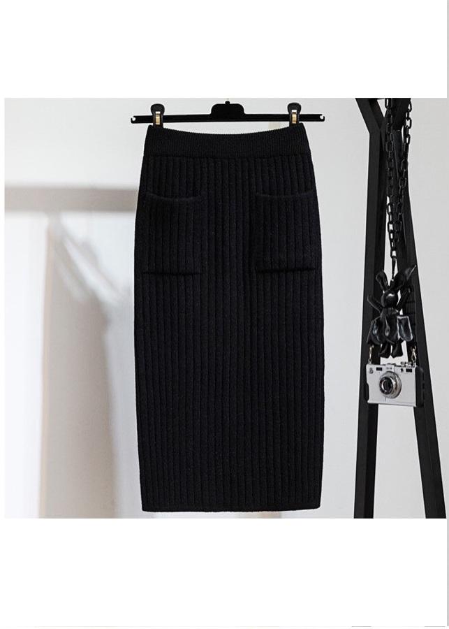 Chân váy bút chì chất len tăm cao cấp form chuẩn kèm quần lót chất thun lạnh ko ngấn 3