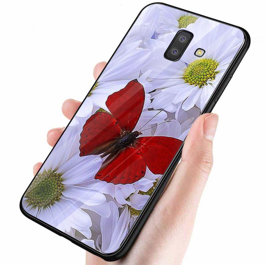 Ốp kính cường lực cho điện thoại Samsung Galaxy J4 - J6 - J6 PLUS - J6 PRIME - J8 - bướm đẹp MS ANH040